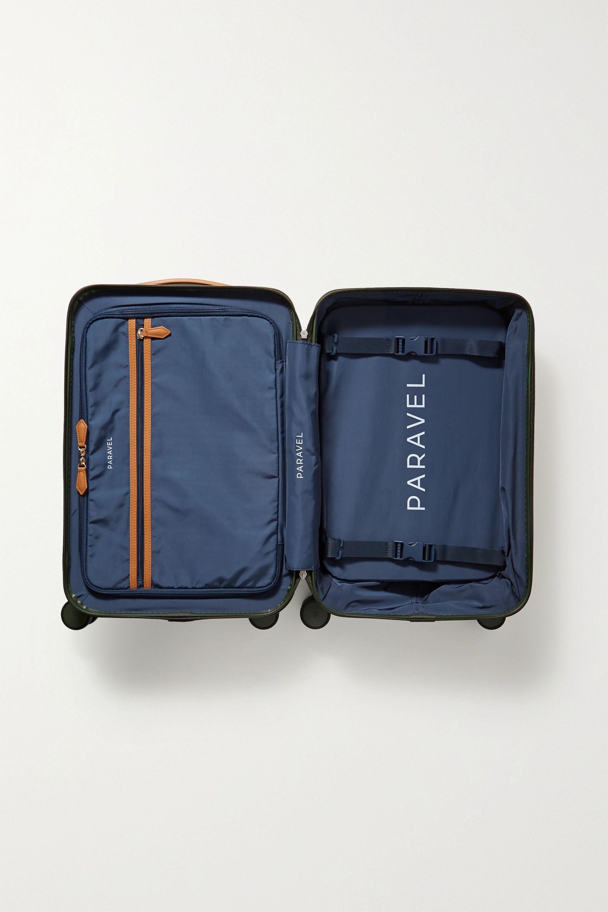 Paravel Aviator faux leather-trimmed hardshell suitcase
