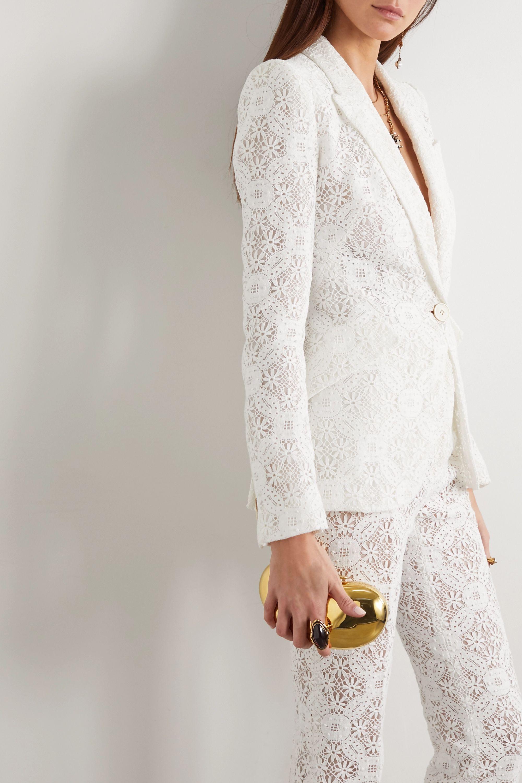 Alexander McQueen Cotton-blend guipure lace blazer