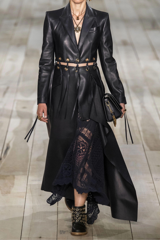 Alexander McQueen Fringed eyelet-embellished leather coat