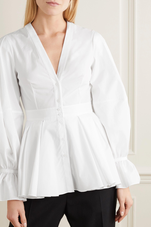 Alexander McQueen Bluse aus Baumwollpopeline mit Schößchen