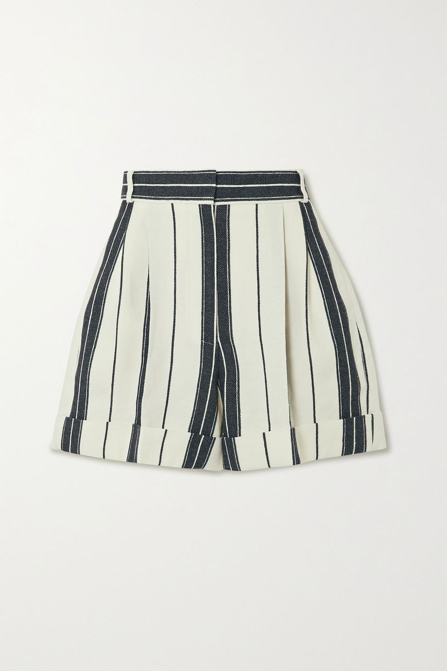 Alexander McQueen Striped linen and cotton-blend shorts