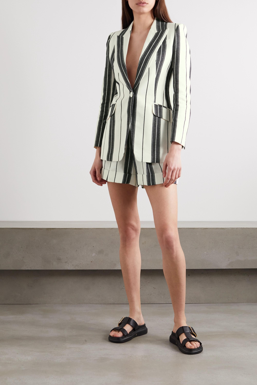 Alexander McQueen Striped linen and cotton-blend shorts