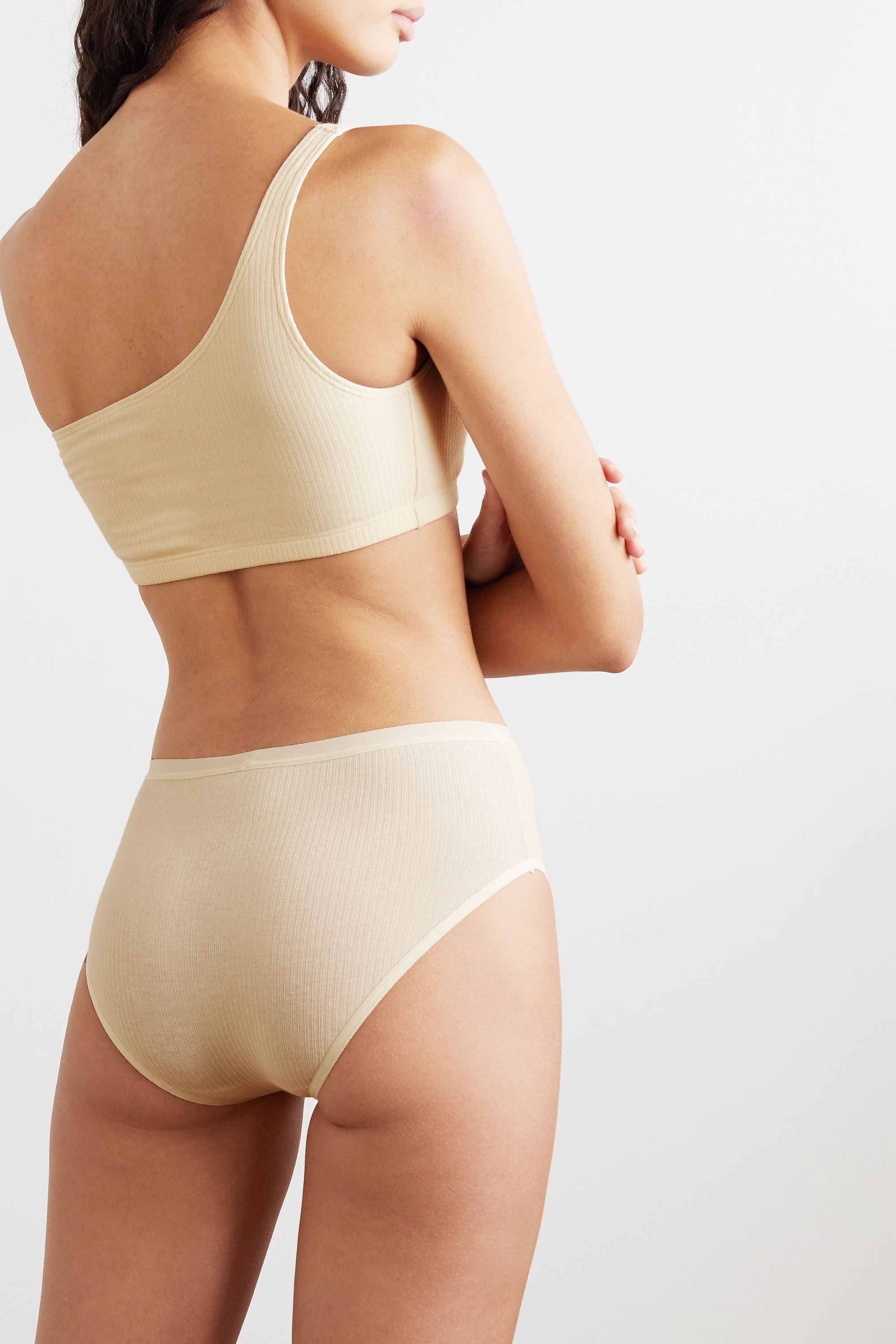 Baserange + NET SUSTAIN Bell ribbed stretch-organic cotton briefs