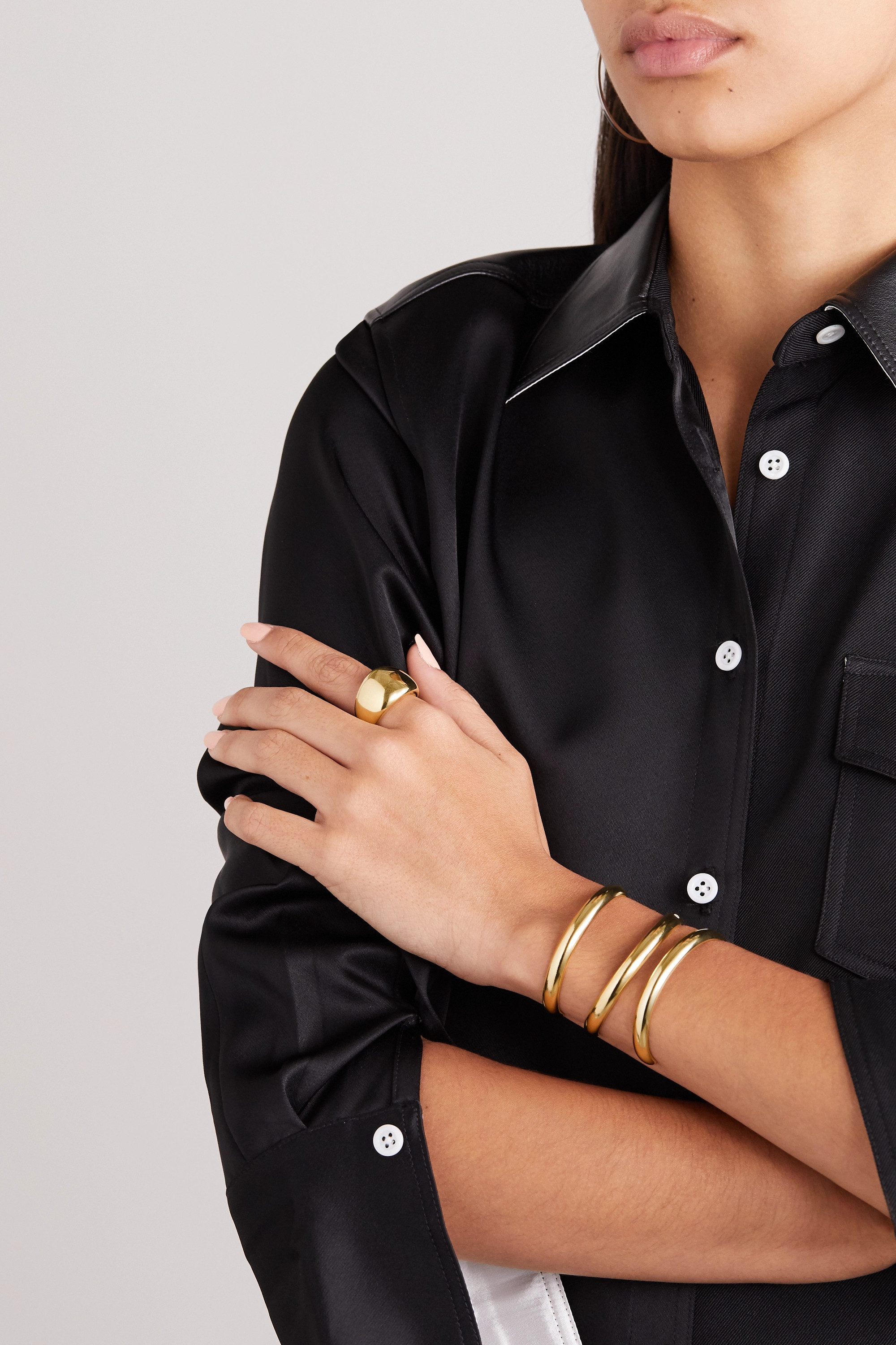Jennifer Fisher New Cylinder gold-plated ring