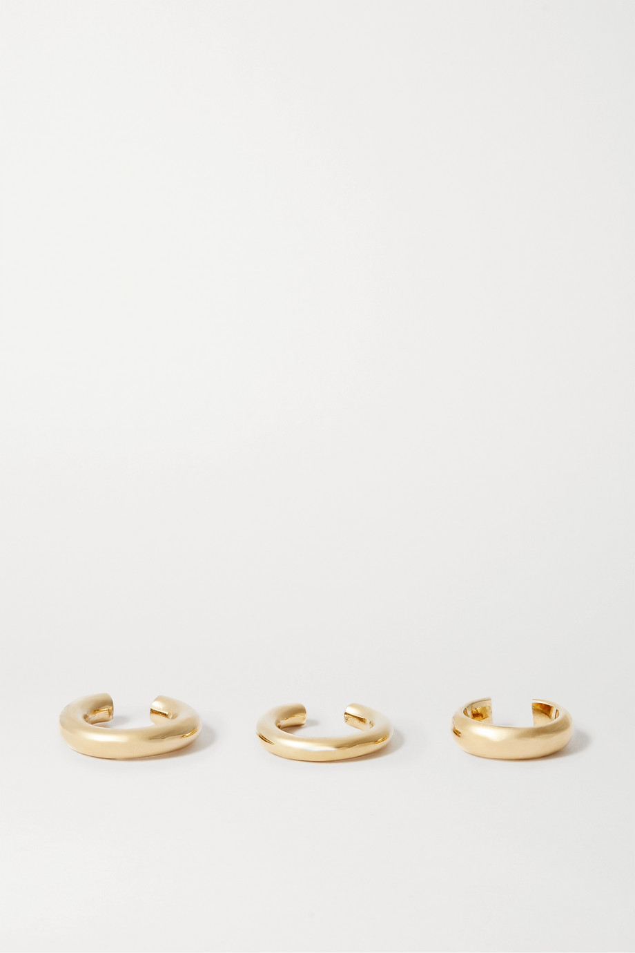 Jennifer Fisher Set of three gold-plated ear cuffs