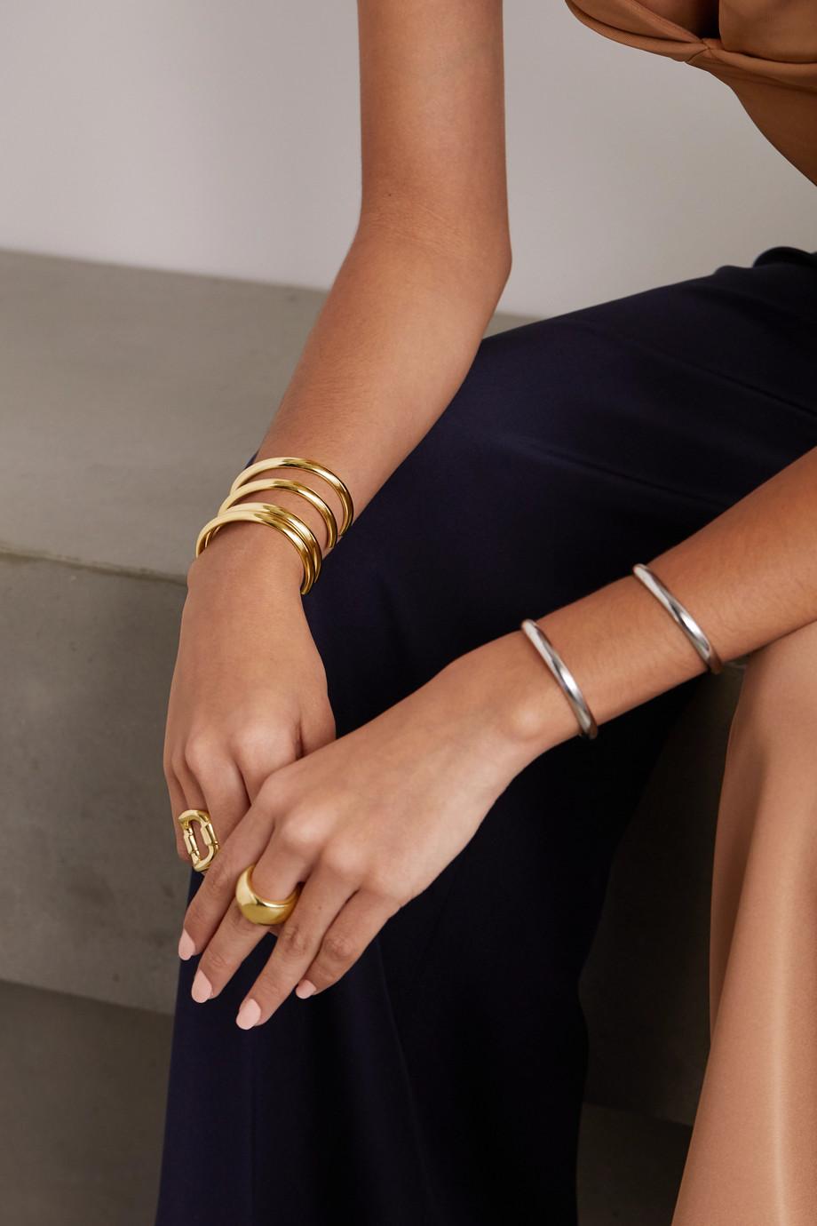 Jennifer Fisher Bracelet en plaqué or Half Round