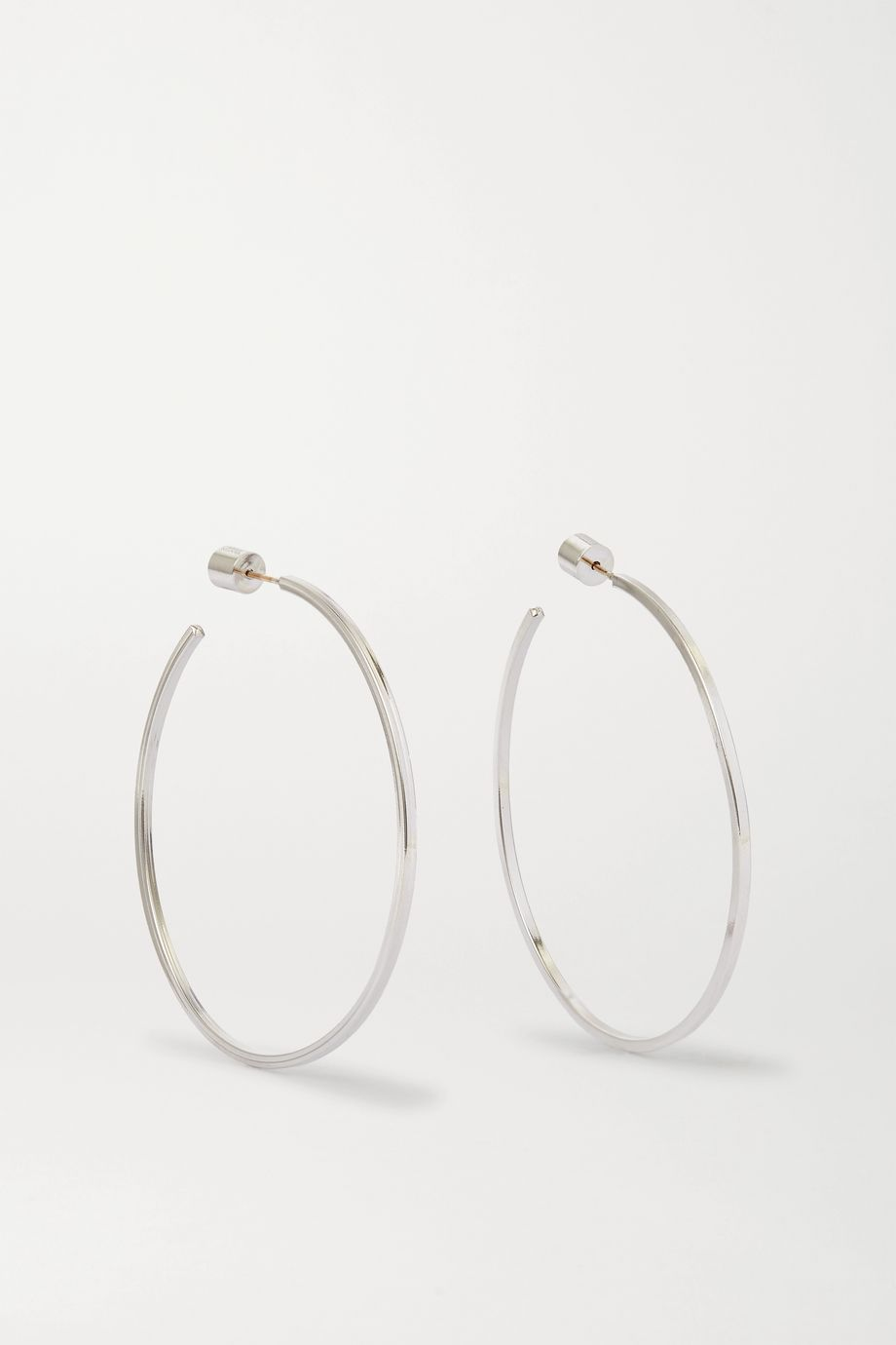 "Jennifer Fisher 2"" Square Thread silver-plated hoop earrings"
