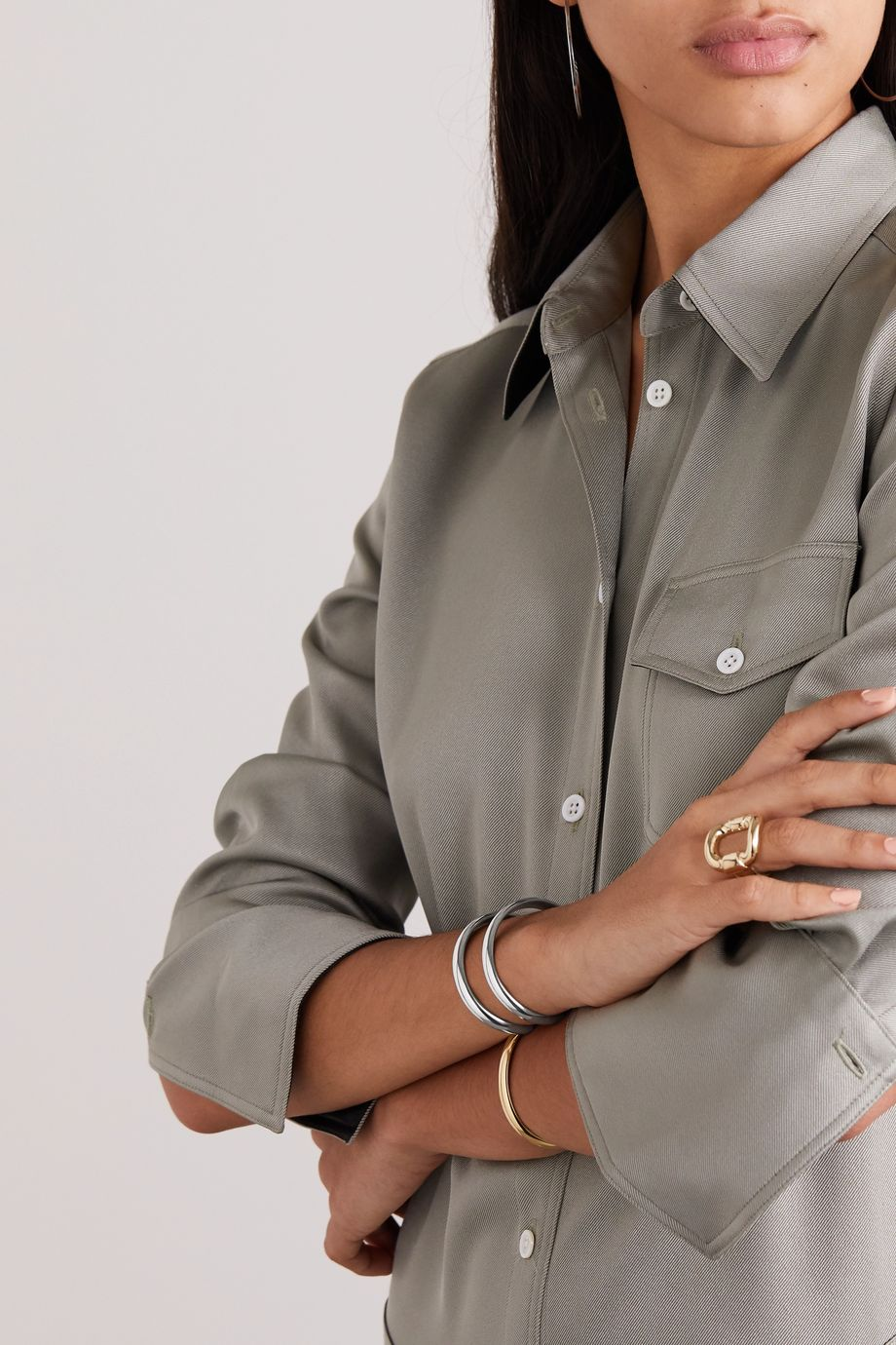 Jennifer Fisher Half Round silver-plated cuff