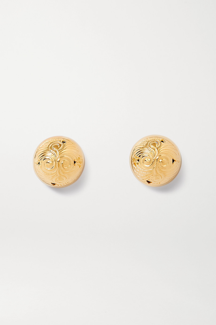 Soft Mountains Hourglass gold vermeil earrings