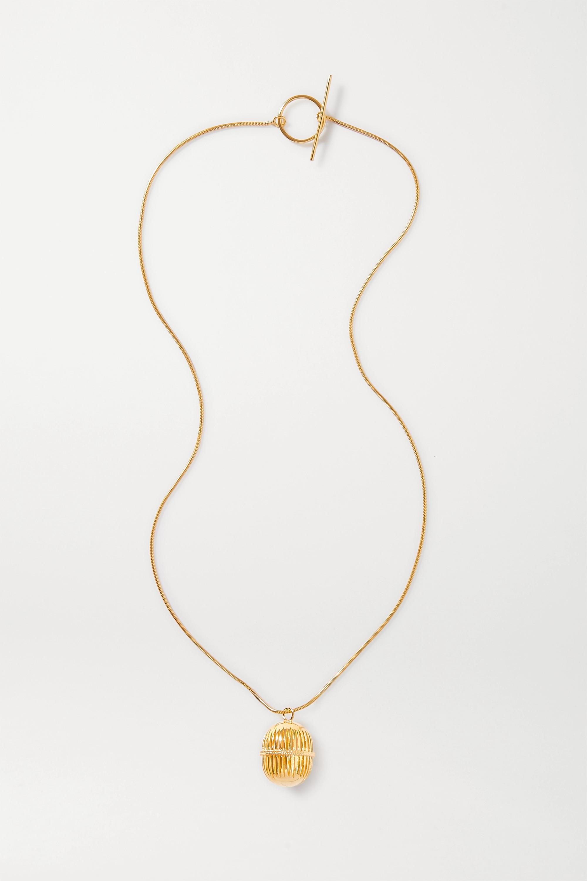 Soft Mountains Monologue gold vermeil necklace