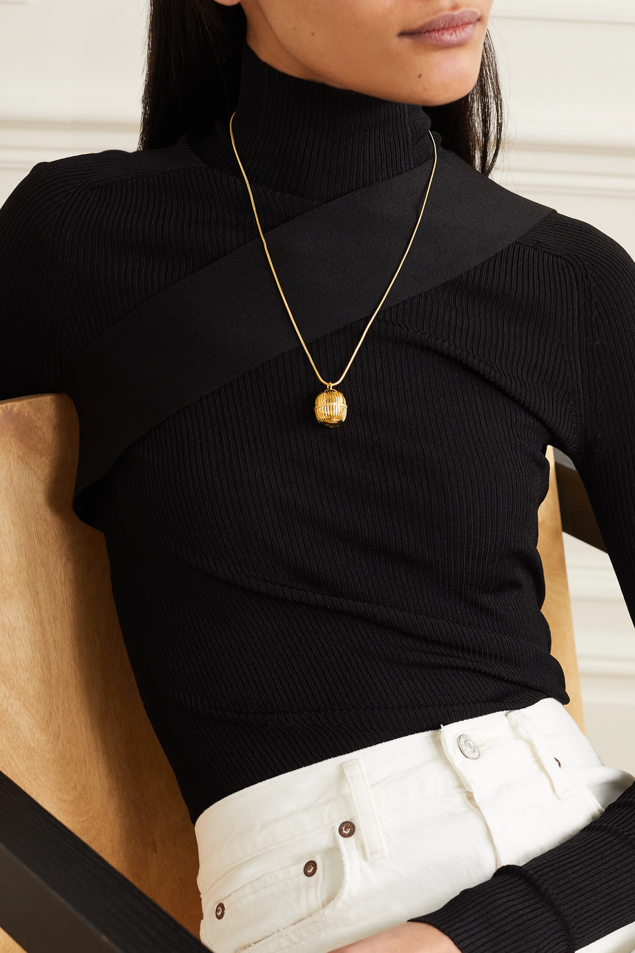 Soft Mountains Monologue gold vermeil necklace
