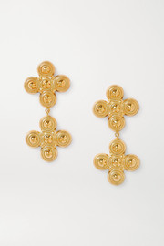 Soft Mountains Gemini gold-plated earrings