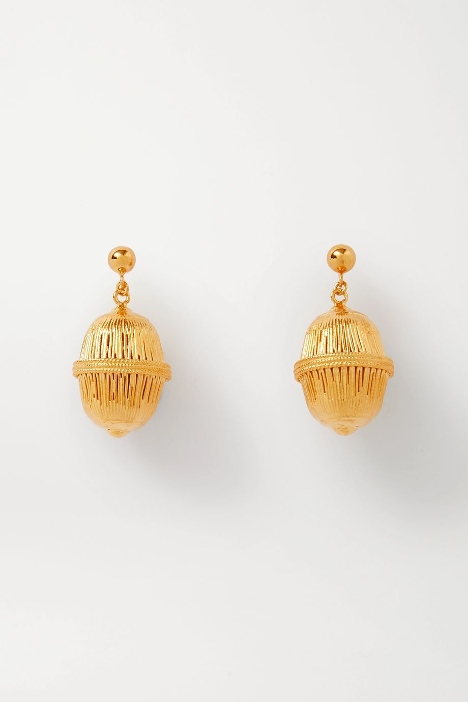 Soft Mountains Seeds gold vermeil earrings