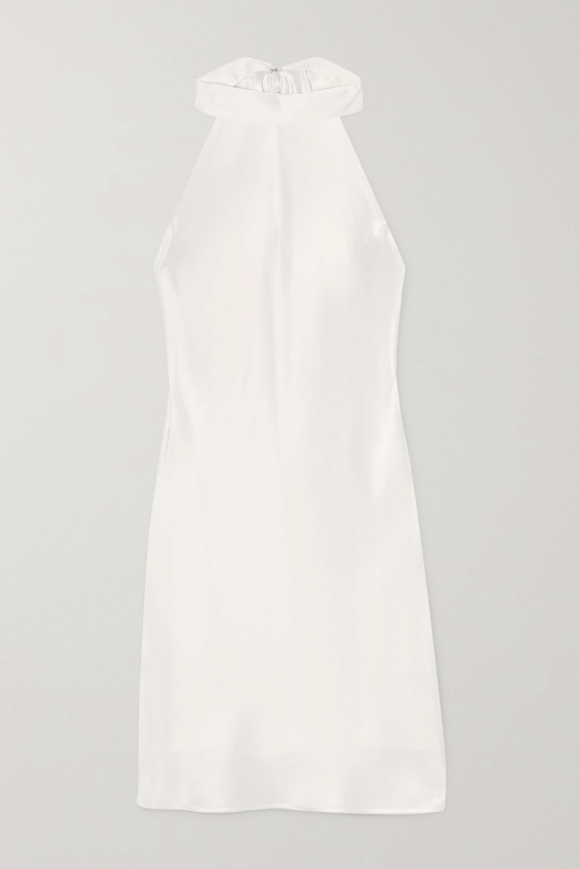 Galvan Satin halterneck mini dress