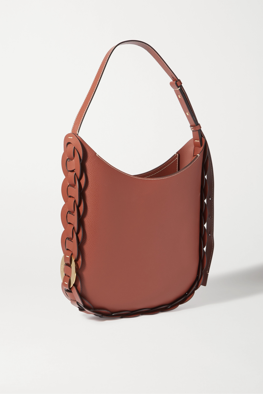 Chloé Darryl medium braided smooth and textured-leather shoulder bag