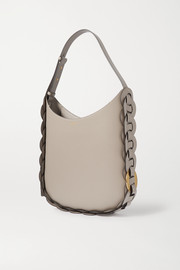 Chloé Darryl medium braided smooth and textured-leather shoulder bag