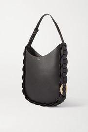 Chloé Darryl medium braided textured-leather shoulder bag