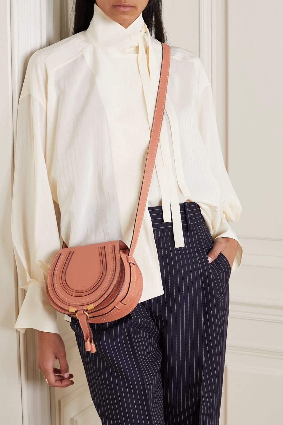 Chloé Marcie small textured-leather shoulder bag