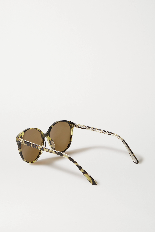 The Row + Oliver Peoples Brooktree round-frame tortoiseshell acetate sunglasses