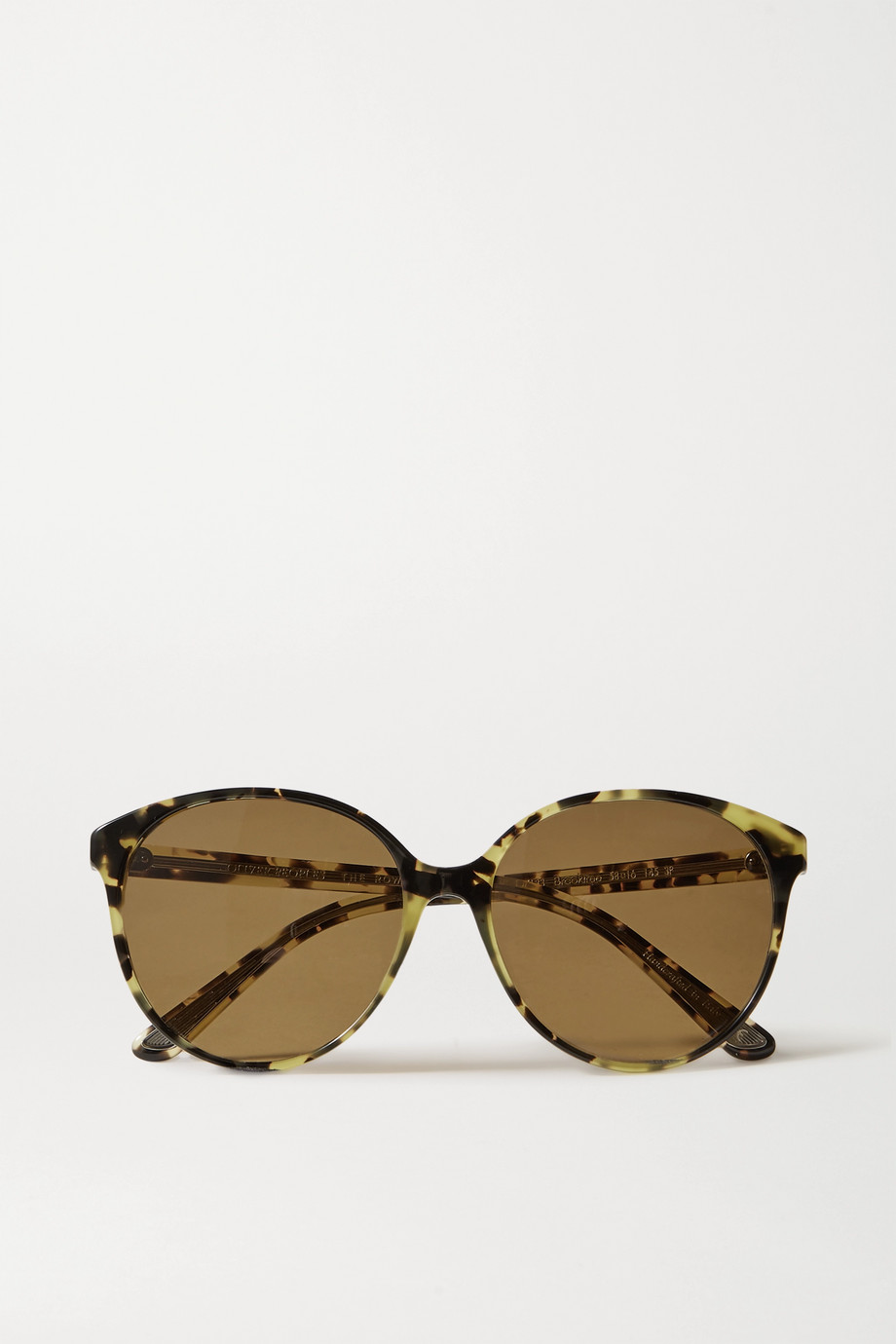 The Row + Oliver Peoples Brooktree round-frame tortoiseshell acetate sunglasses