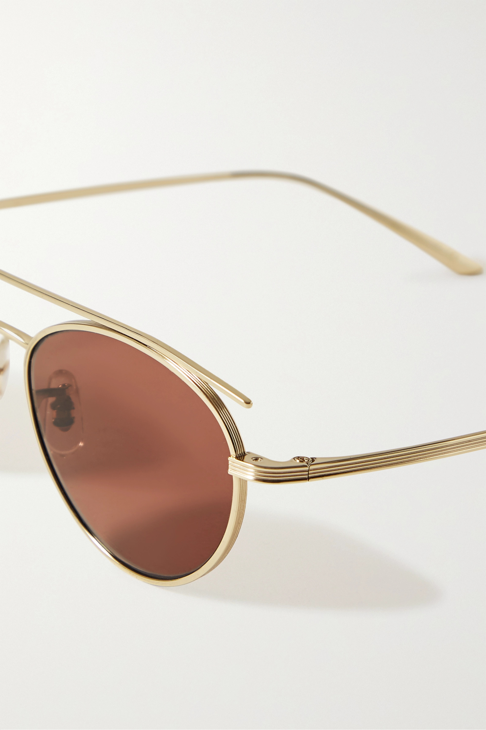 "The Row x Oliver Peoples ""Hightree"" 金色金属圆框太阳镜"