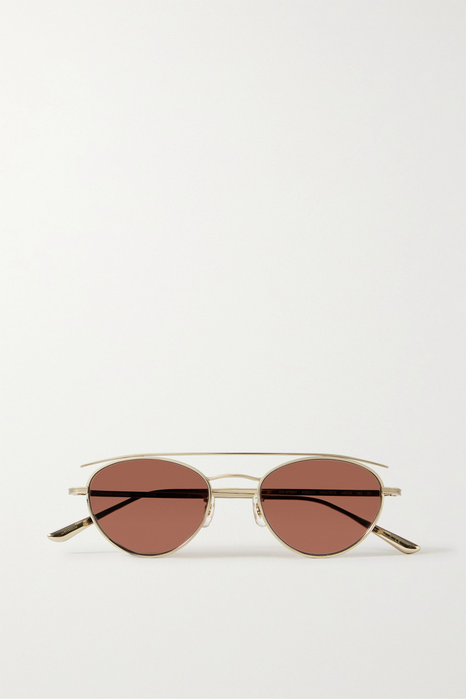 The Row + Oliver Peoples Hightree round-frame gold-tone sunglasses