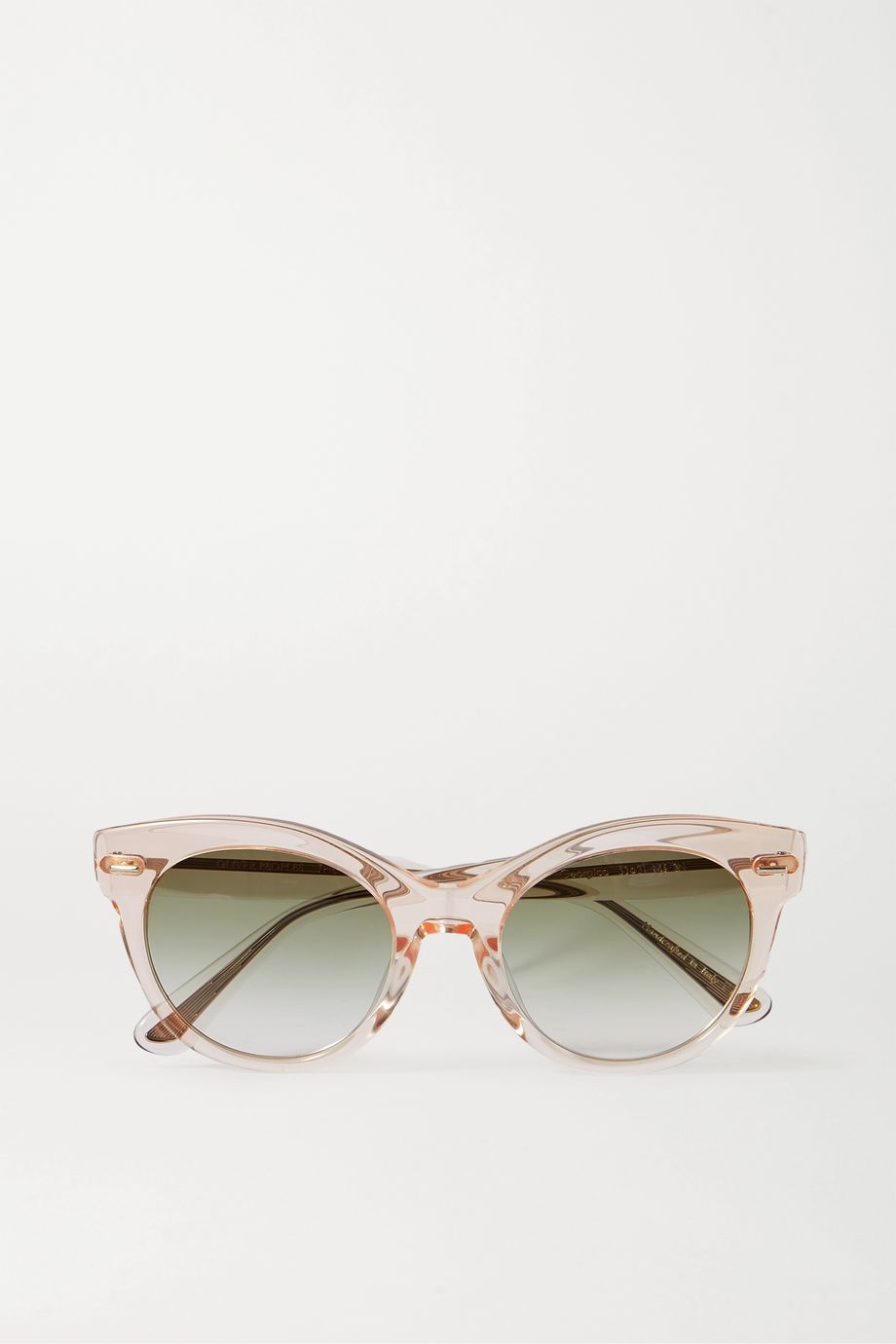 The Row + Oliver Peoples Georgica round-frame acetate and silver-tone sunglasses