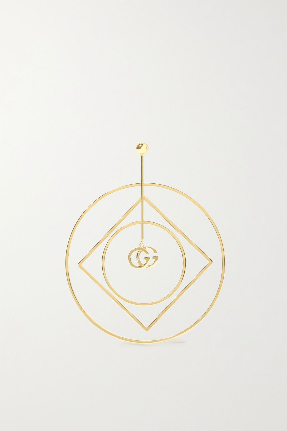 Gucci GG Running 18-karat gold earring