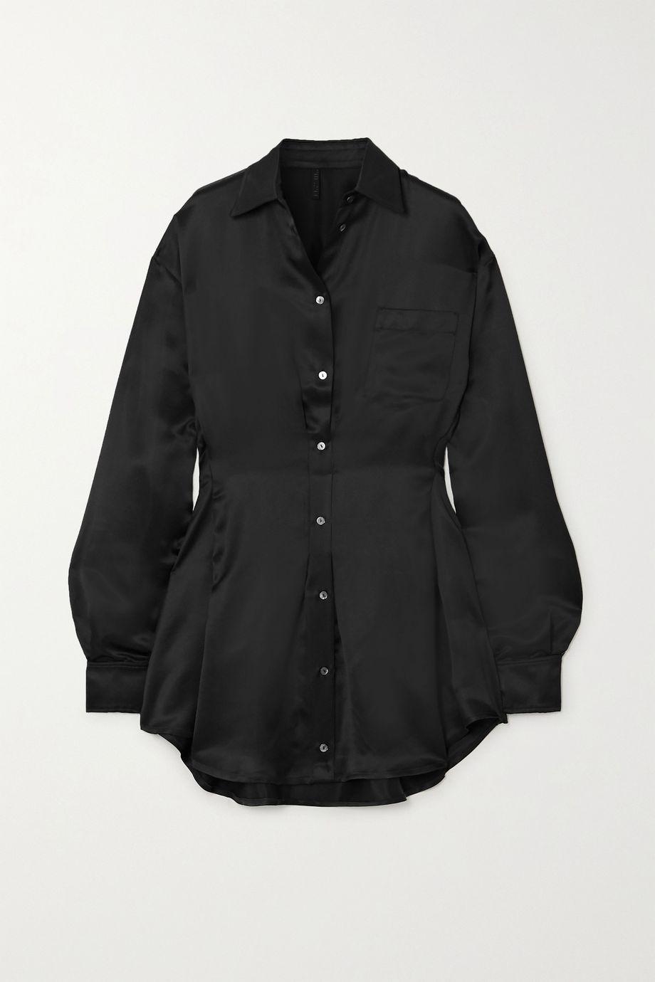 Unravel Project Satin mini shirt dress