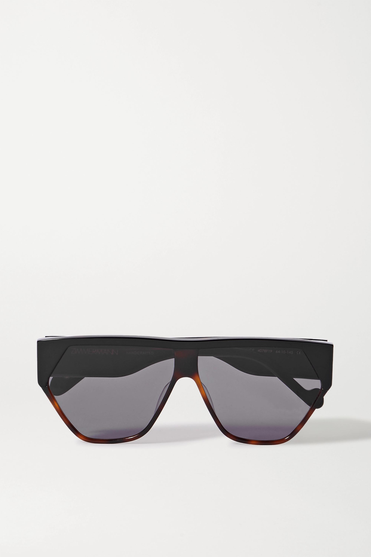 Zimmermann Resistance D-frame acetate and tortoiseshell sunglasses