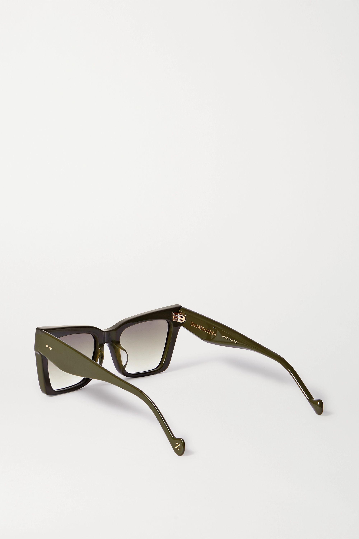 Zimmermann Cipher square-frame acetate sunglasses