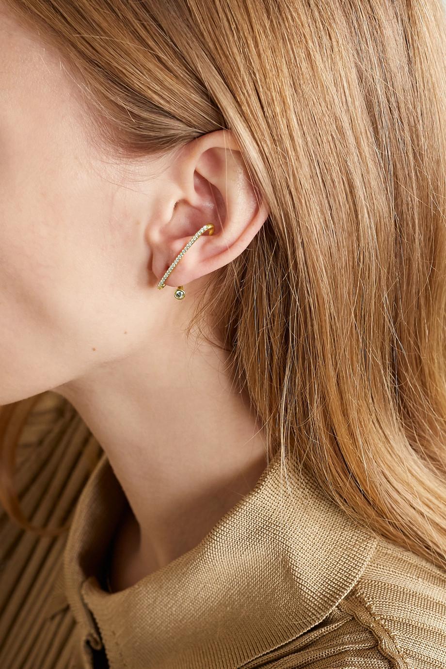 KATKIM Crescendo Flare gold diamond earring
