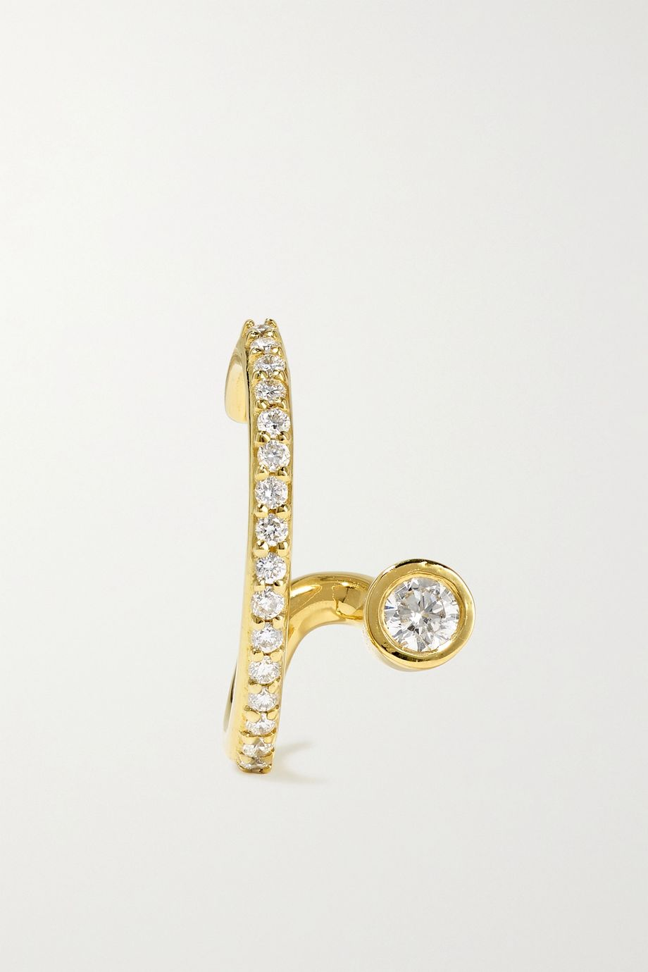 KATKIM Crescendo Flare gold diamond ear cuff