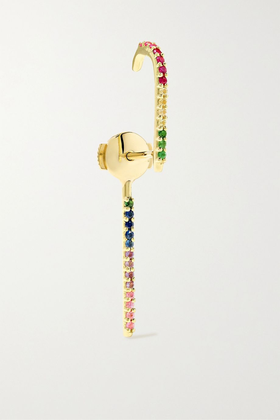 KATKIM Petite Francesca gold sapphire earring