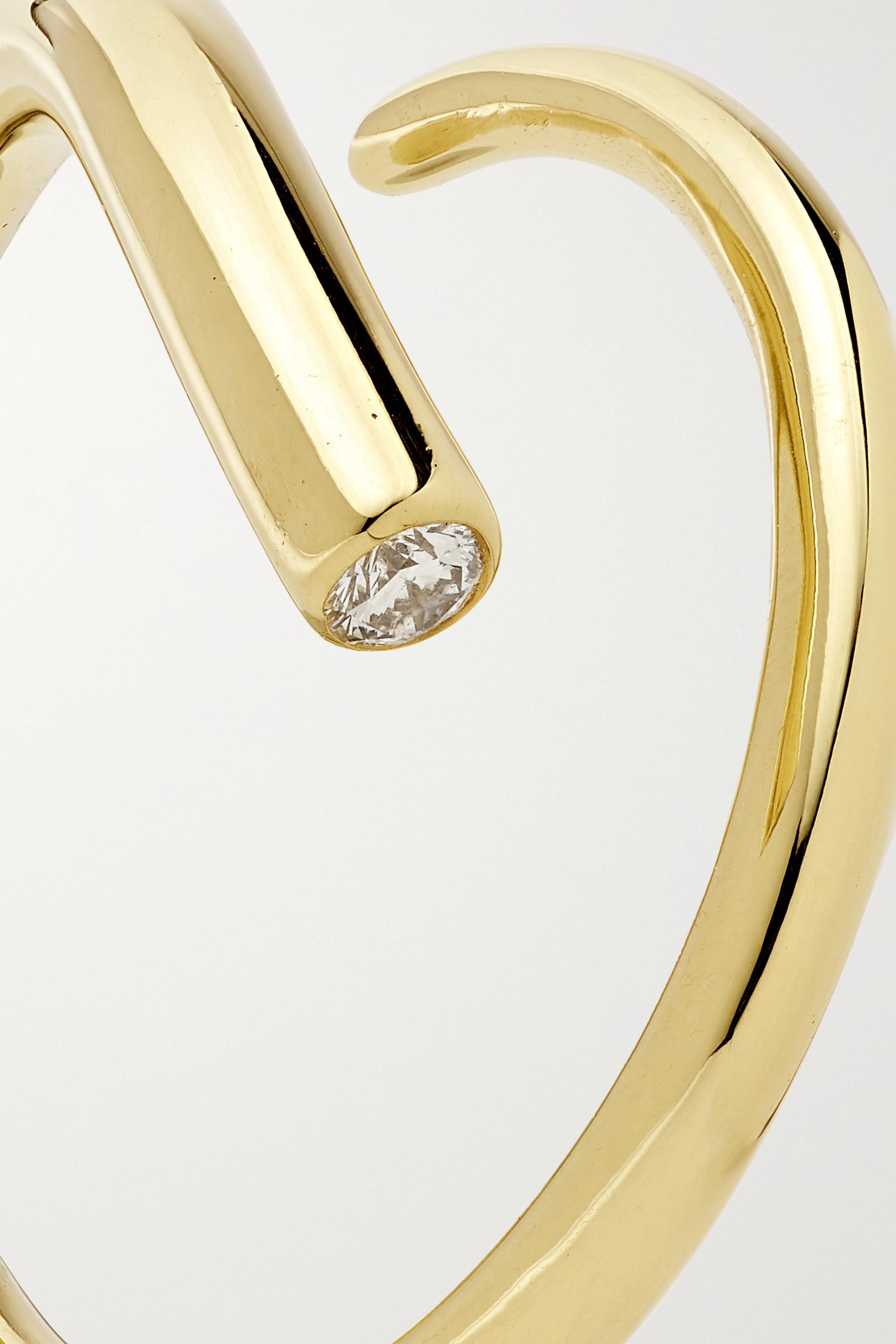 KATKIM Crescendo gold diamond ring