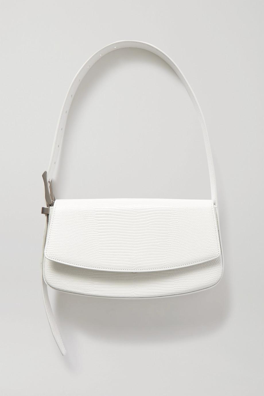 Balenciaga Schultertasche aus Leder mit Eidechseneffekt