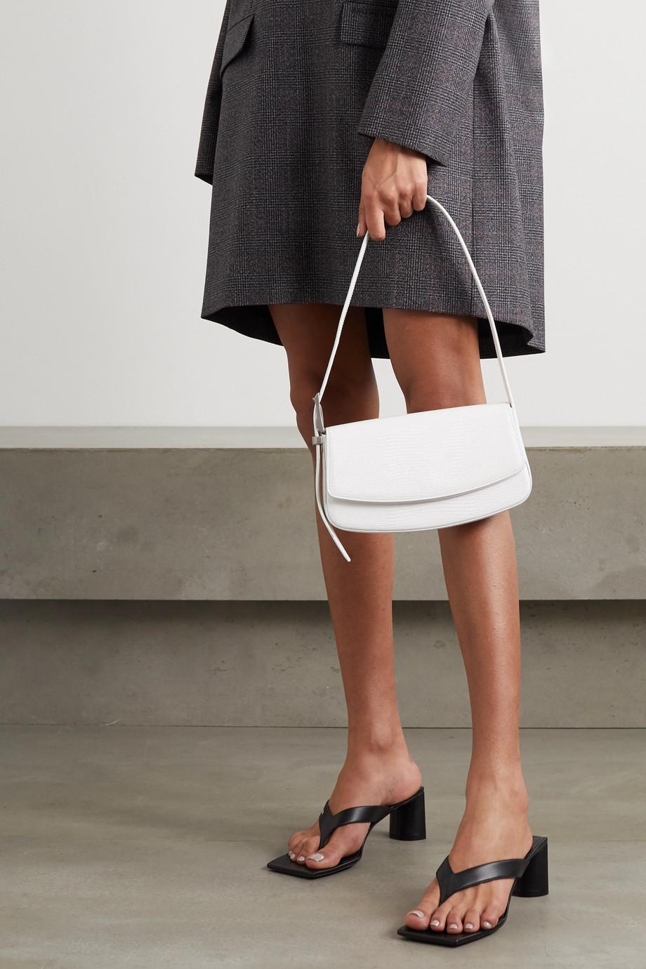 Balenciaga Lizard-effect leather shoulder bag