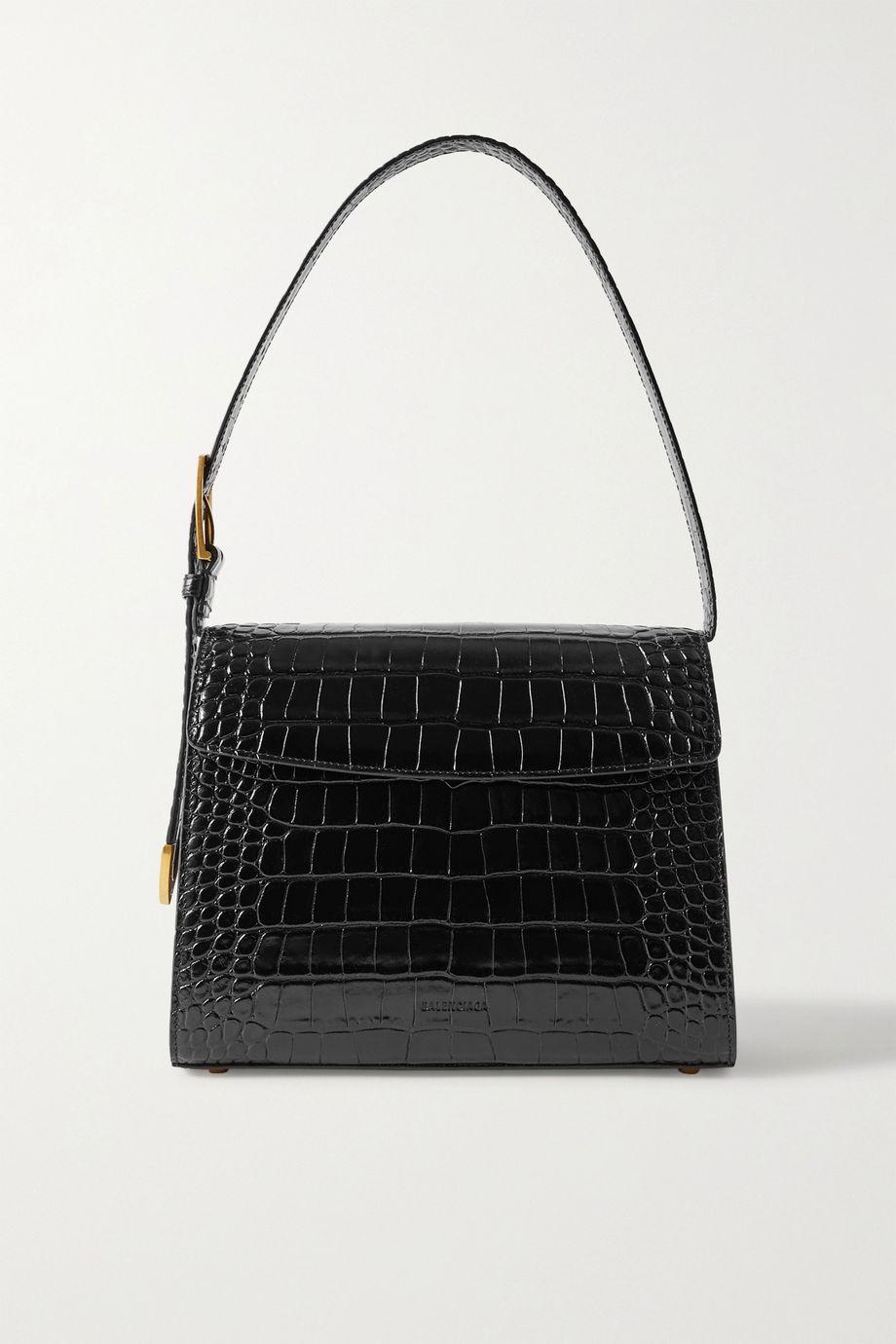 Balenciaga Ghost medium croc-effect leather shoulder bag