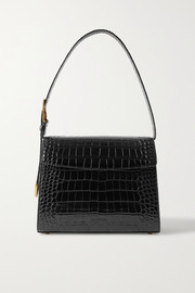 Balenciaga Ghost medium croc-effect leather shoulder bag