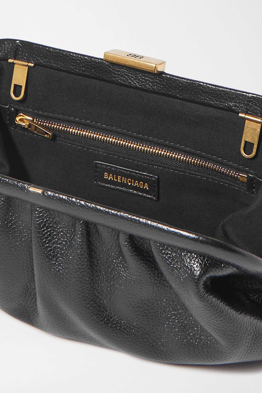 Balenciaga Cloud small printed textured-leather clutch