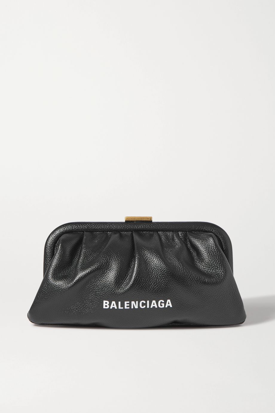 Balenciaga Cloud small printed textured-leather clutch