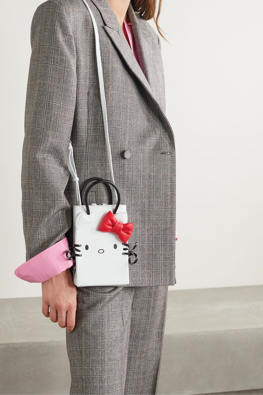 Balenciaga + Hello Kitty mini printed leather shoulder bag