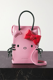 Balenciaga + Hello Kitty mini printed leather shoulder bag