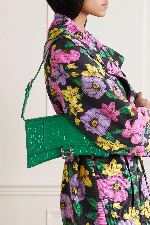 Balenciaga Hourglass croc-effect leather shoulder bag