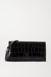Balenciaga Touch croc-effect leather shoulder bag