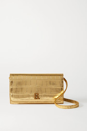 Balenciaga Touch metallic croc-effect leather shoulder bag