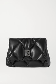 Balenciaga Touch embellished quilted leather clutch