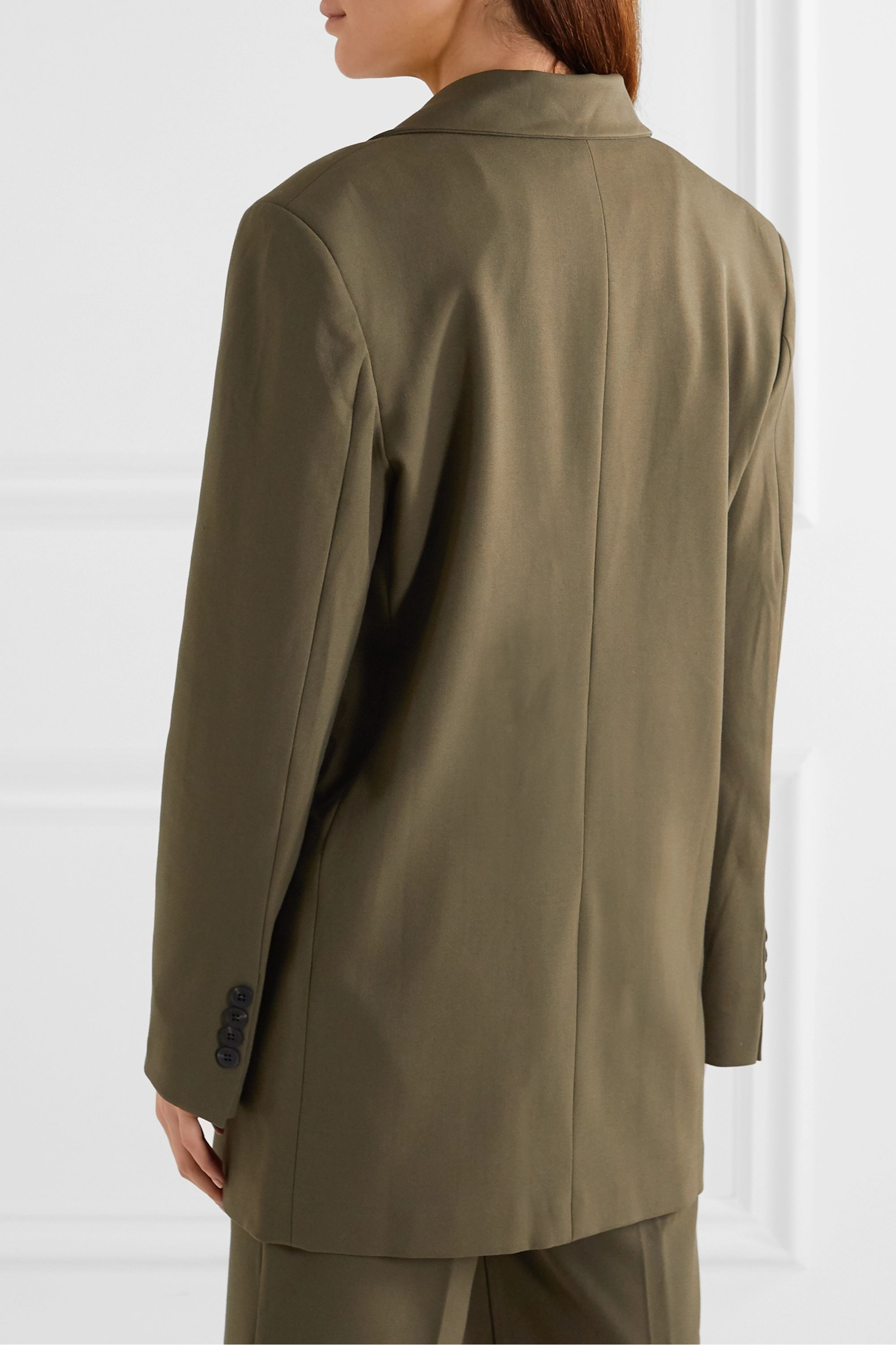Frankie Shop Julie double-breasted gabardine blazer