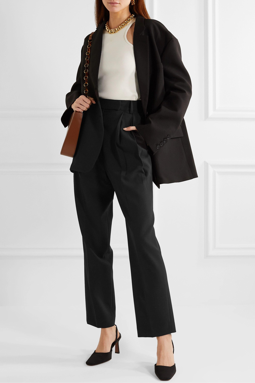Frankie Shop Bea pleated cady straight-leg pants