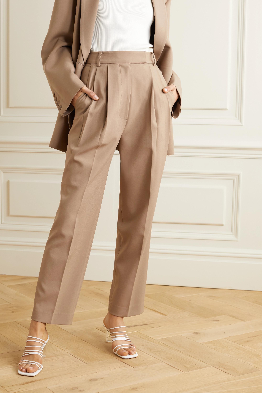 Frankie Shop Bea pleated gabardine straight-leg pants